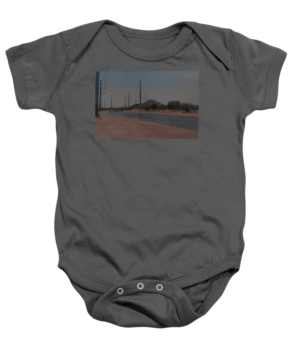 Arizona Baby Onesie featuring the photograph Arizona Waterway by Rob Hans