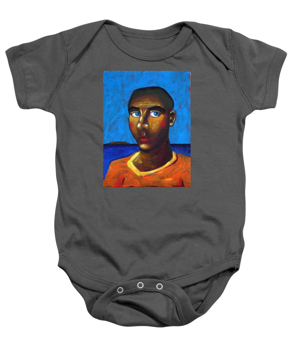Arsonist Baby Onesie featuring the painting Arsonist by Dimitris Milionis