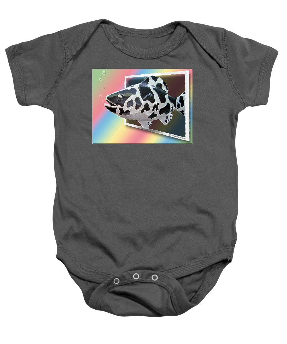 2d Baby Onesie featuring the photograph Art Fish Fun by Brian Wallace