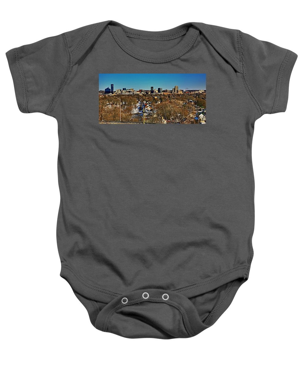 Grand Rapids Mi City Scapes Baby Onesie featuring the photograph Art Prize City Grand Rapids Mi by Robert Pearson