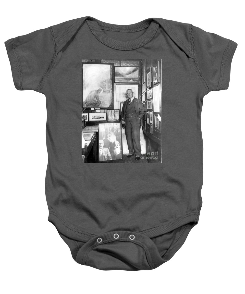 1928 Baby Onesie featuring the photograph Arthur Conan Doyle by Granger