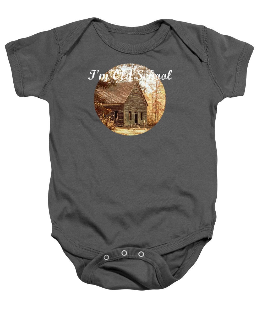 Old Church Baby Onesie featuring the photograph Old Church - Vintage by Anita Faye