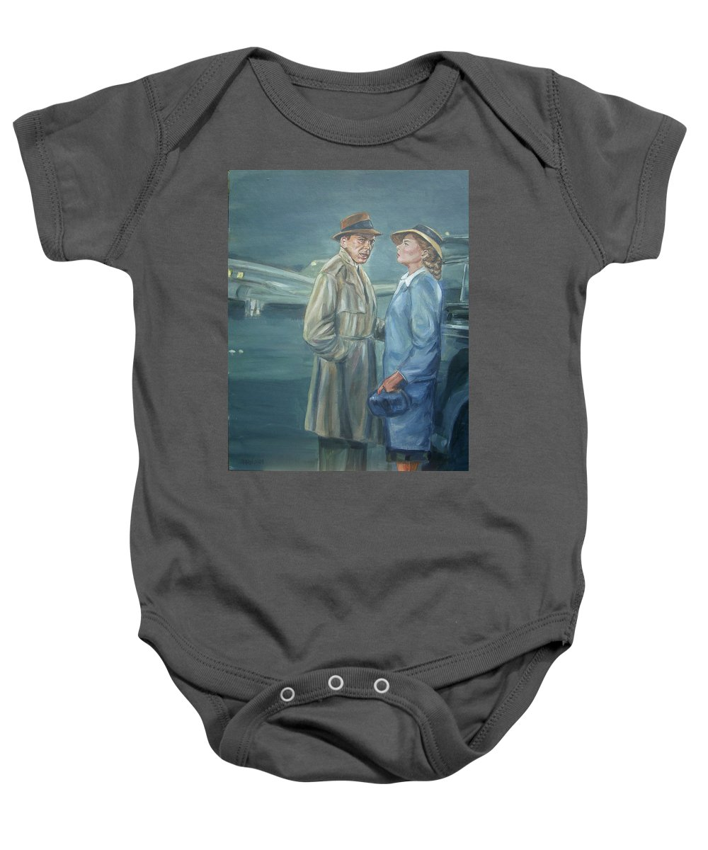 Casablanca Baby Onesie featuring the painting As Time Goes By by Bryan Bustard