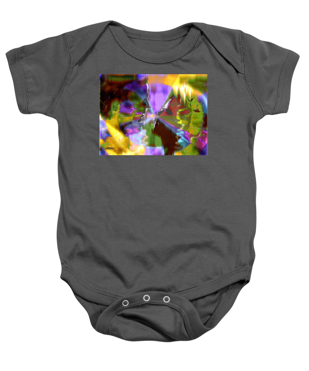 As Time Goes By Baby Onesie featuring the digital art As Time Goes By by Seth Weaver