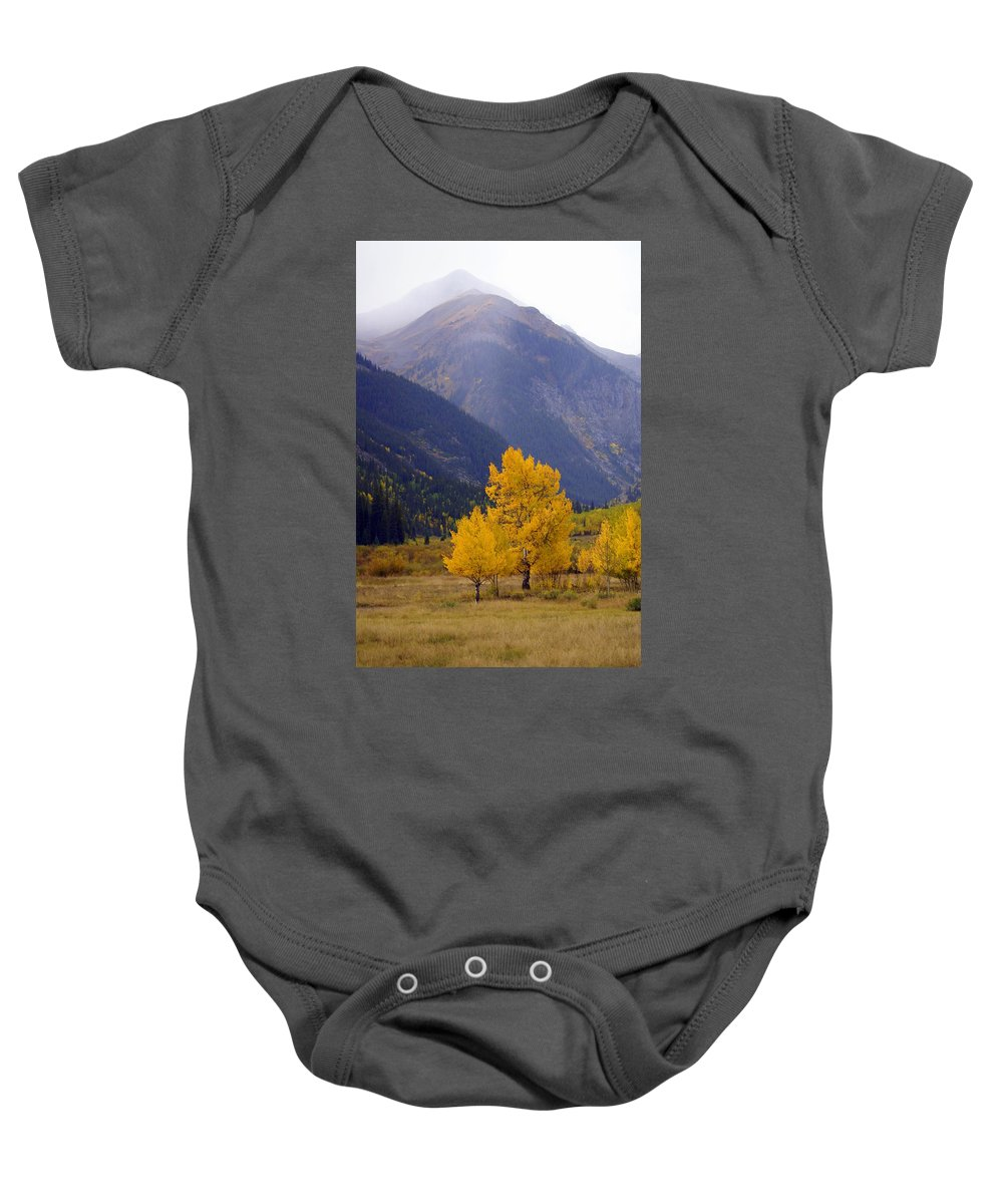 Fall Colors Baby Onesie featuring the photograph Aspen Fall 4 by Marty Koch