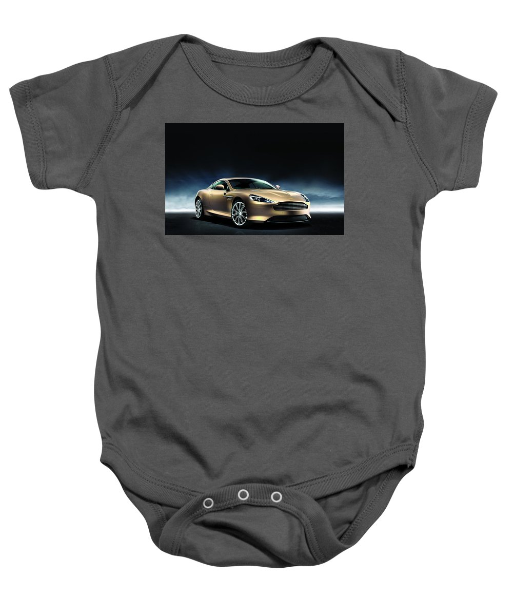 Baby Onesie featuring the digital art Aston Martin Dragon 88 Limited Edition 2 by Alice Kent