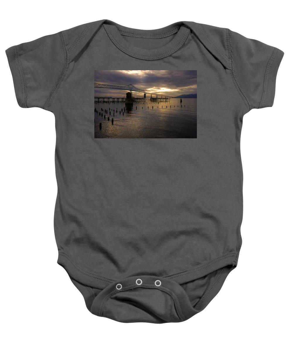Landscape Baby Onesie featuring the photograph Astoria-megler Bridge 2 by Lee Santa