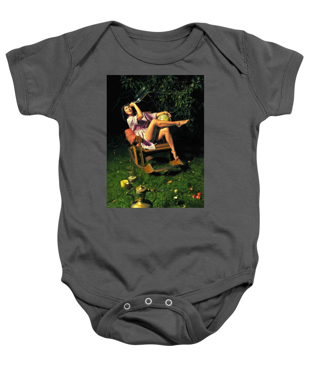 Girl Baby Onesie featuring the photograph Astrologer40x60 by Pavel Anushhenko