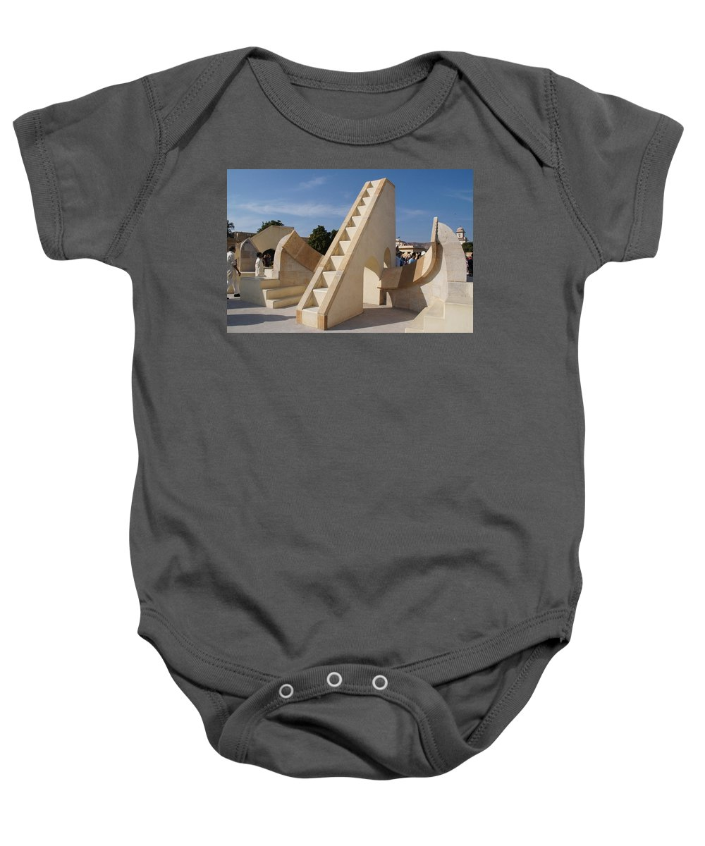 Astronomy Of Giants Baby Onesie featuring the photograph Astronomy Of Giants. Rasivalaya. by Elena Perelman