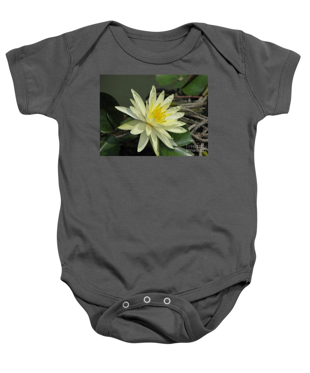 Lilly Baby Onesie featuring the photograph At The Pond by Amanda Barcon