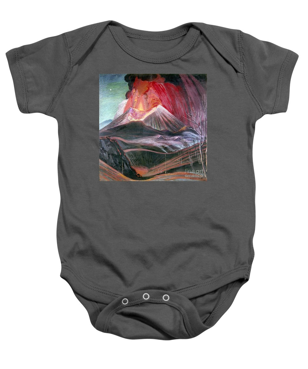 20th Century Baby Onesie featuring the photograph Atl: Volcano, 1943 by Granger