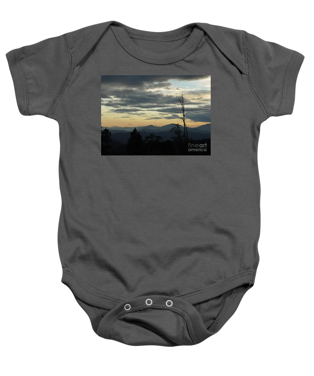 Atmospheric Baby Onesie featuring the photograph Atmospheric Perspective by Peter Piatt
