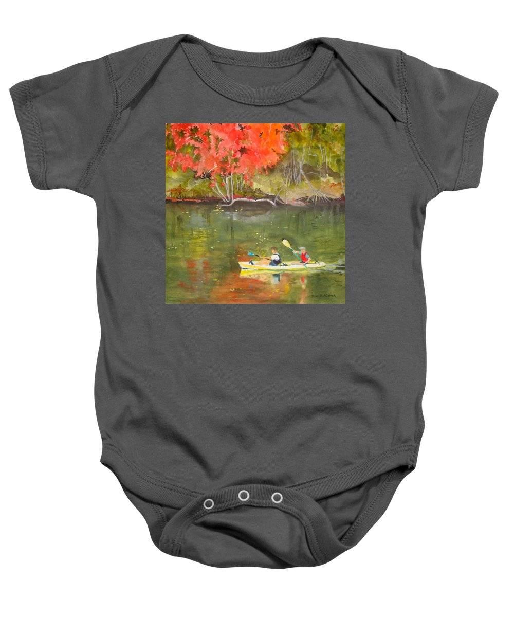 Water Baby Onesie featuring the painting Augusta Canal Number Two by Jean Blackmer