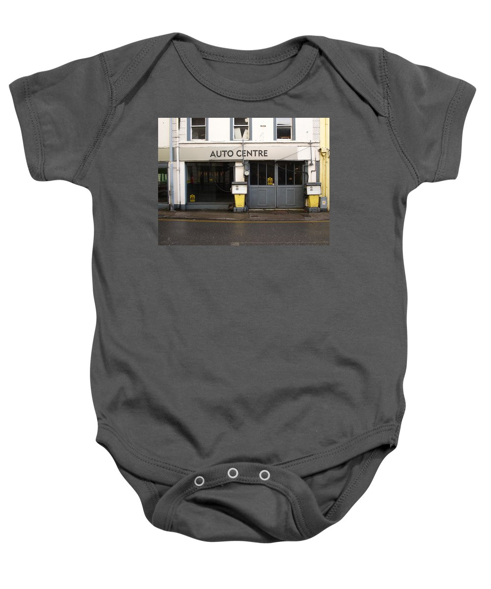 Auto Baby Onesie featuring the photograph Auto Centre by Tim Nyberg