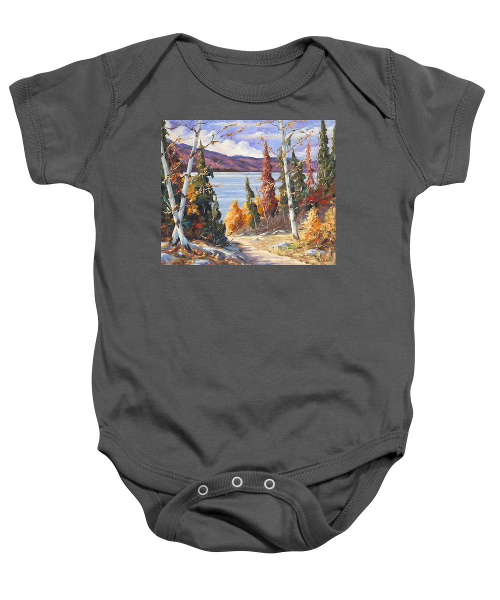 Art Baby Onesie featuring the painting Automn Colors by Richard T Pranke