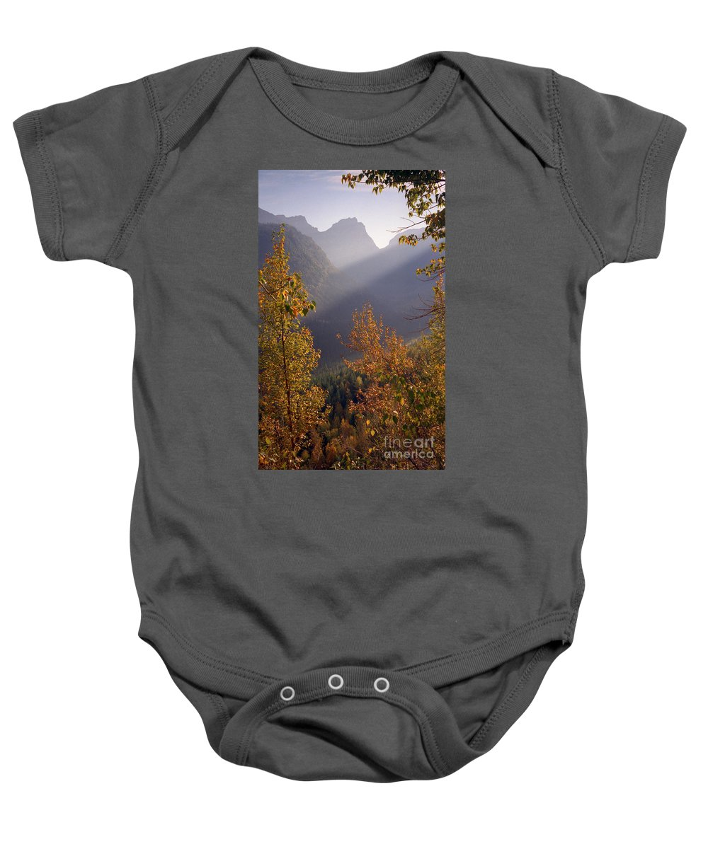 Mountains Baby Onesie featuring the photograph Autumn At Logan Pass by Richard Rizzo