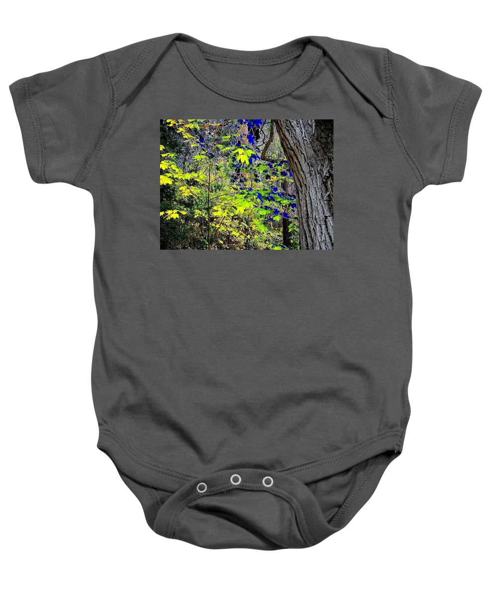 Surreal Baby Onesie featuring the photograph Autumn Blue by Will Borden