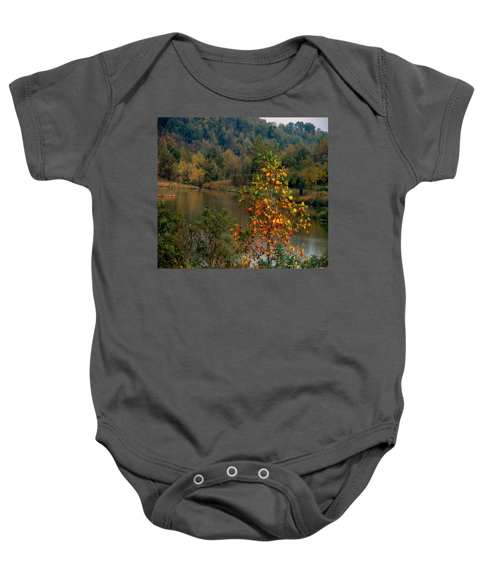 Fall Colors Baby Onesie featuring the photograph Autumn Colors by Gary Wonning