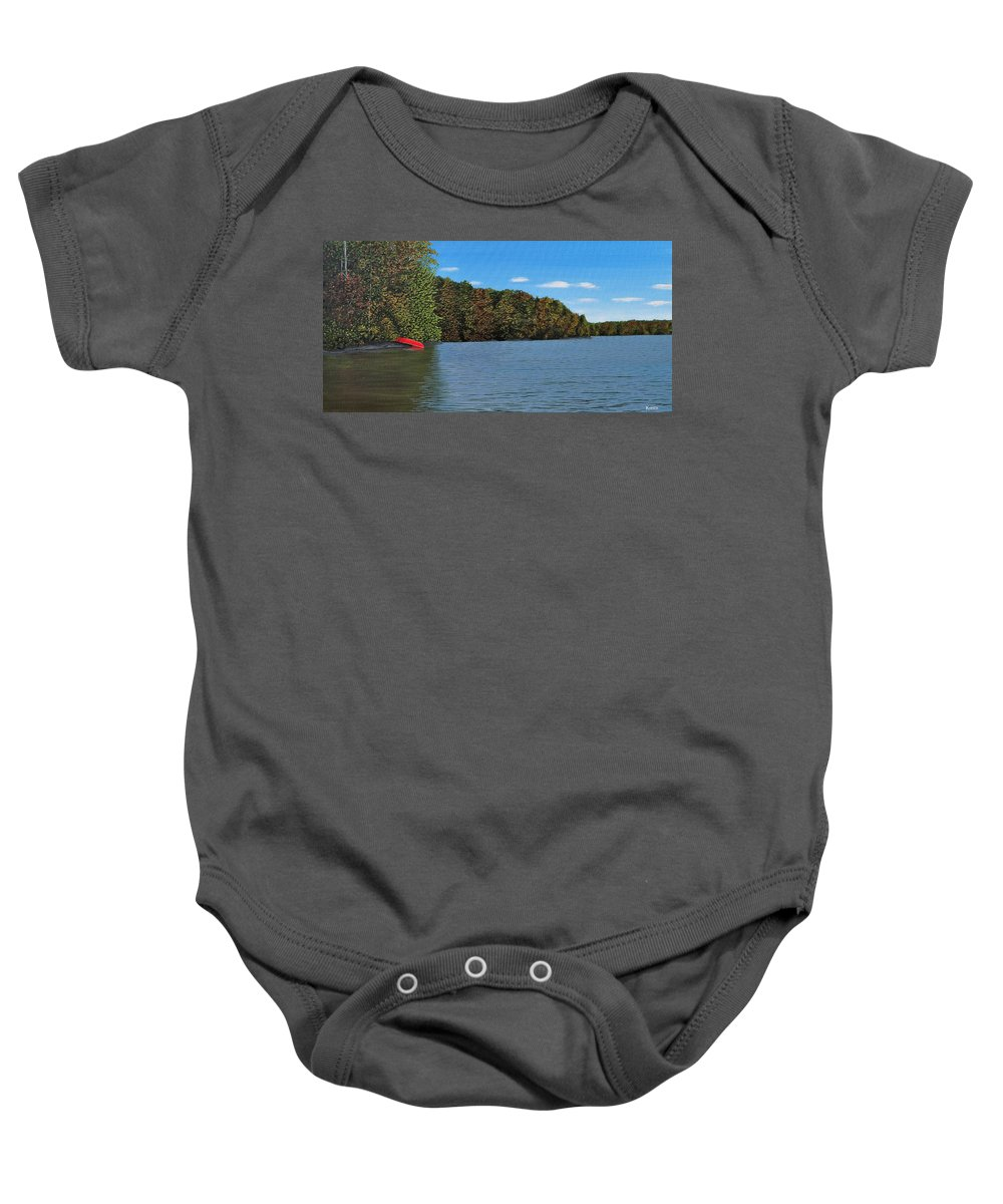 Autumn Baby Onesie featuring the painting Autumn In Muskoka by Kenneth M Kirsch
