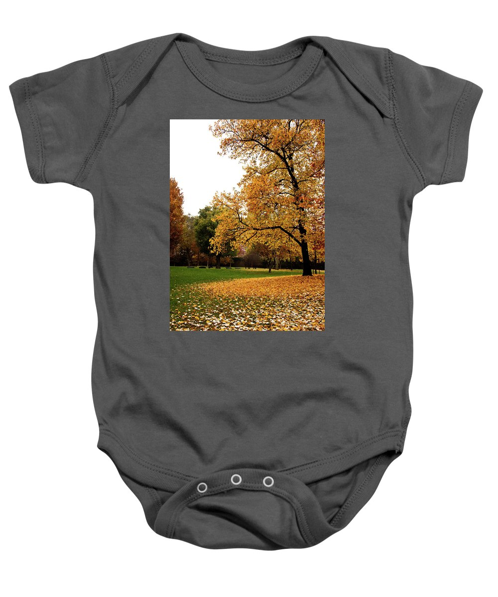 Natural Baby Onesie featuring the photograph Autumn In Turin, Italy by Paolo Modena