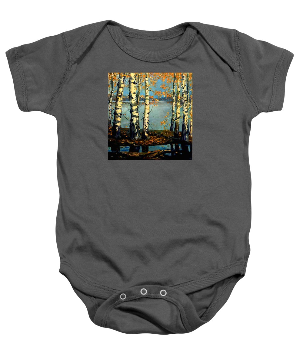 Autumn Baby Onesie featuring the painting Autumn by LoveyUp Gallery