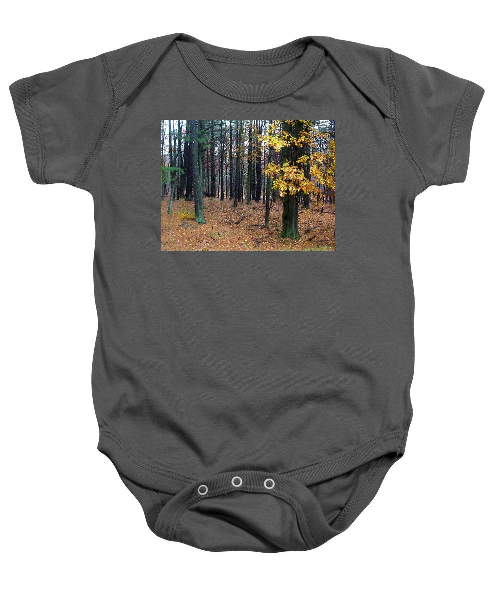 Autumn Baby Onesie featuring the painting Autumn Morning by Paul Sachtleben