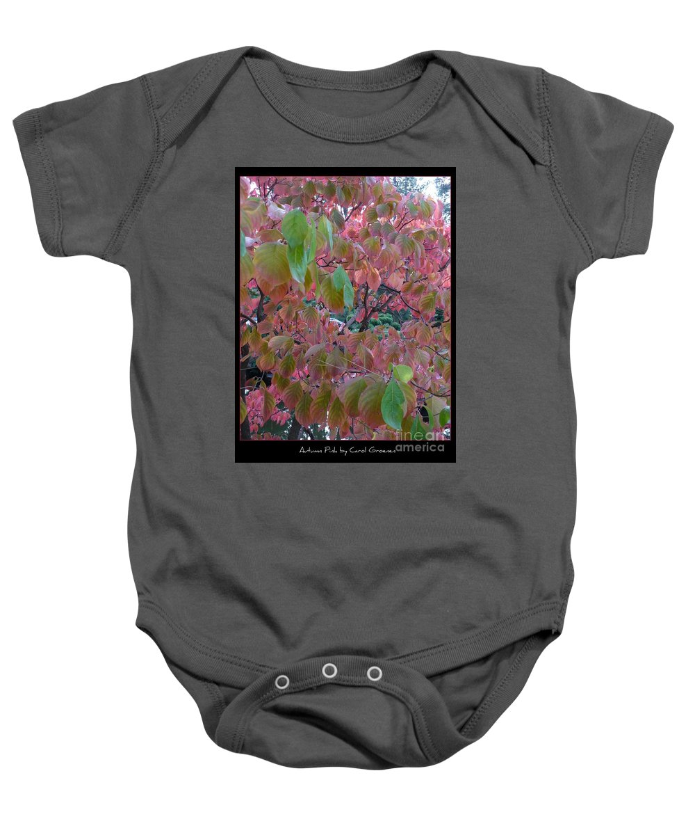Fall Baby Onesie featuring the photograph Autumn Pink Poster by Carol Groenen