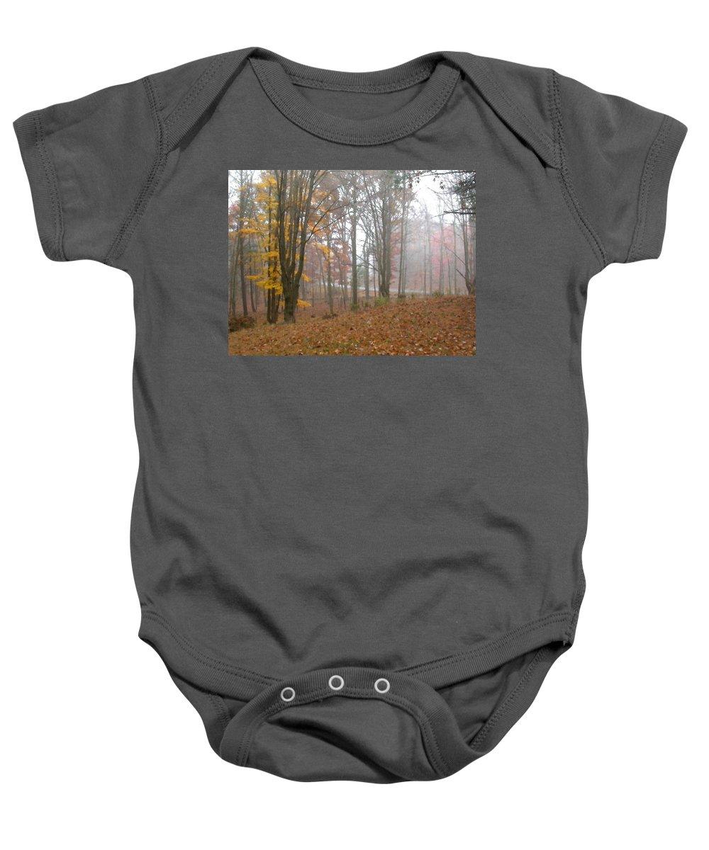 Autumn Baby Onesie featuring the painting Autumnal Mist by Paul Sachtleben