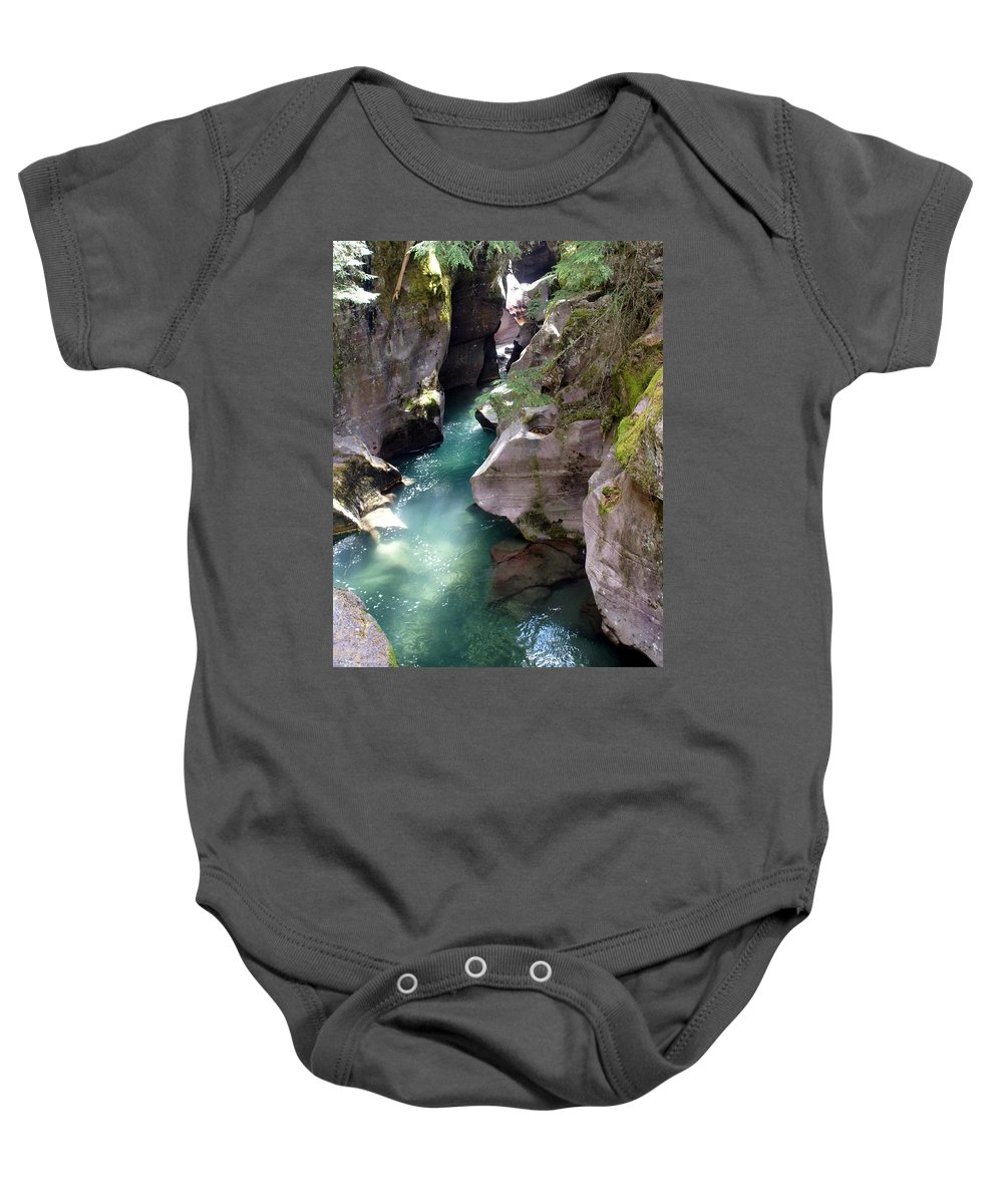 Glacier National Park Baby Onesie featuring the photograph Avalanche Creek Glacier National Park by Marty Koch