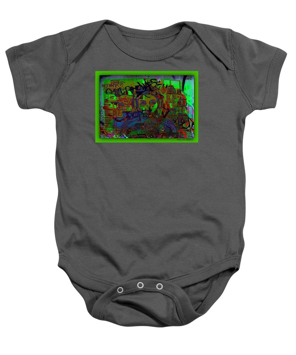 Down 42 Baby Onesie featuring the digital art Down 42 by Tony Adamo