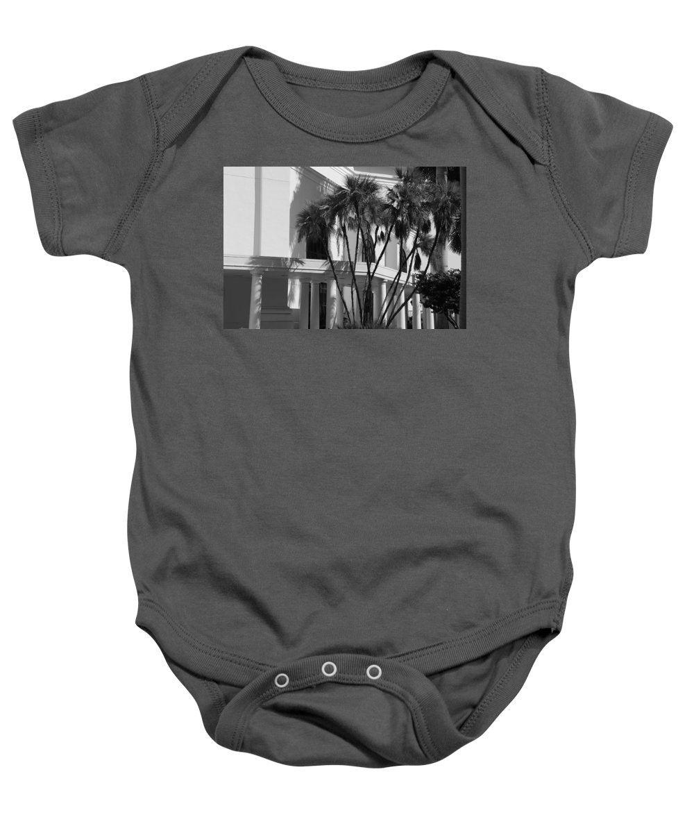 Black And White Baby Onesie featuring the photograph B S Post Modern..... by Rob Hans