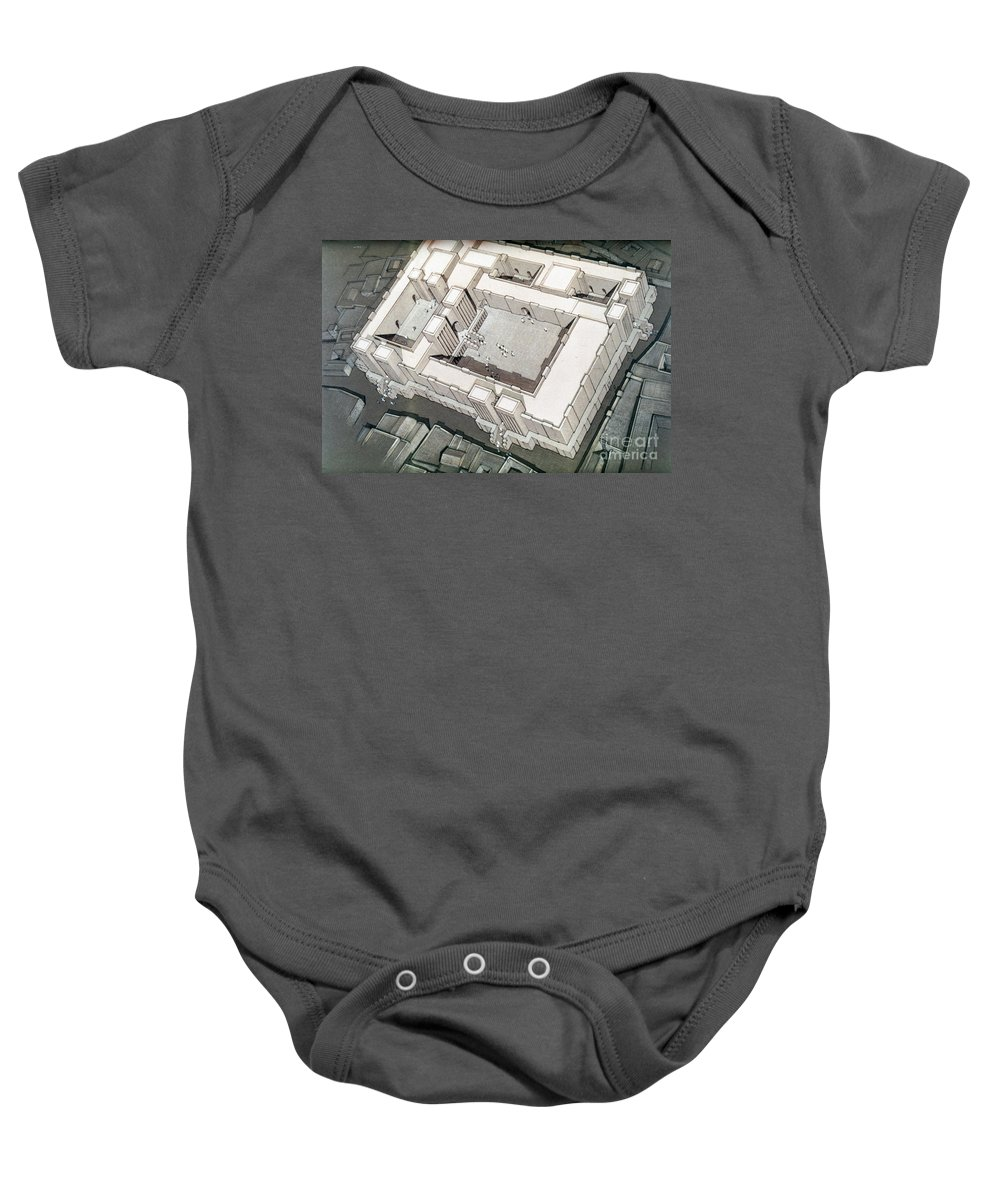1800 B.c. Baby Onesie featuring the photograph Babylonian Temple by Granger