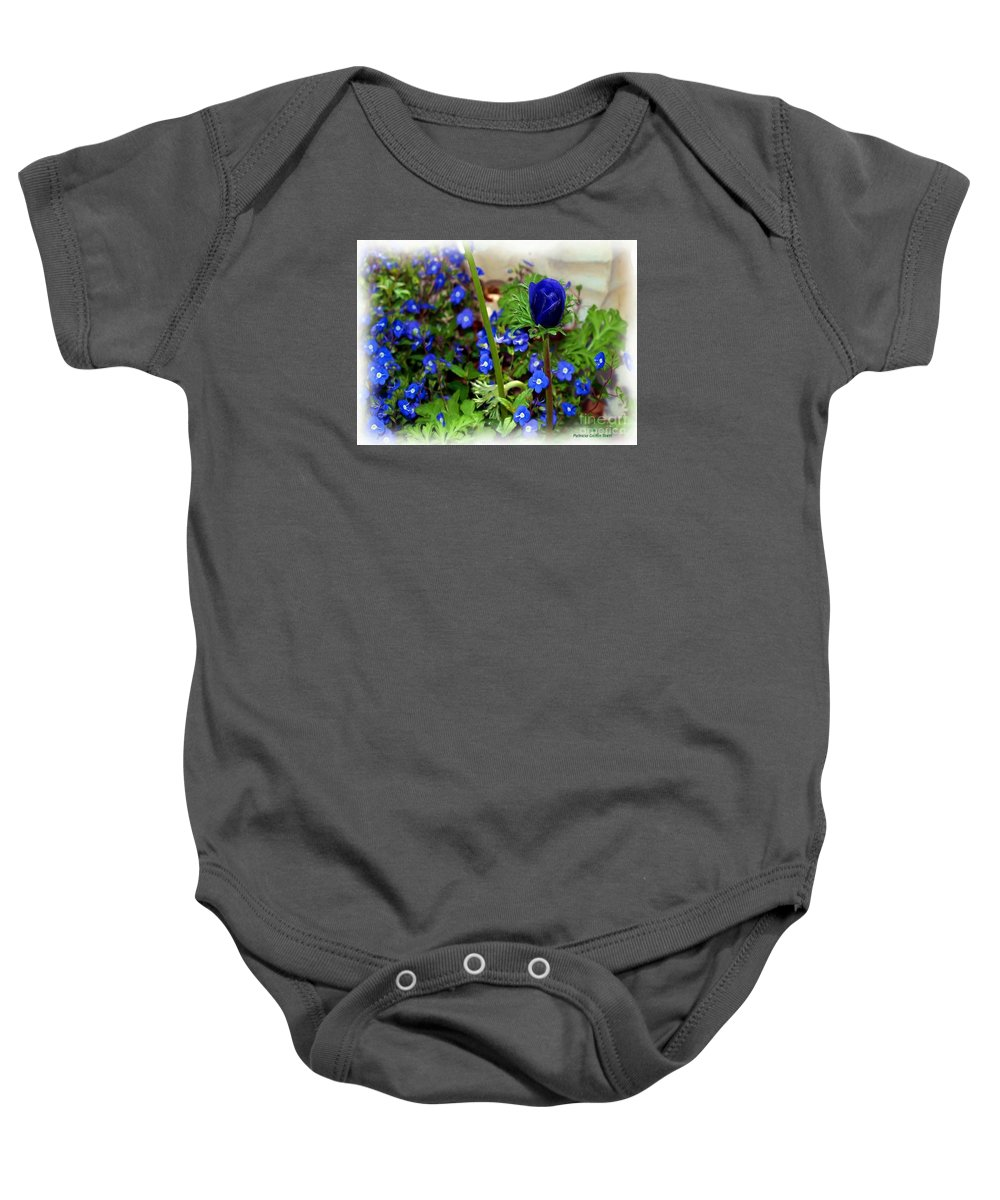 Fine Art Baby Onesie featuring the painting Babys Got The Blues by Patricia Griffin Brett