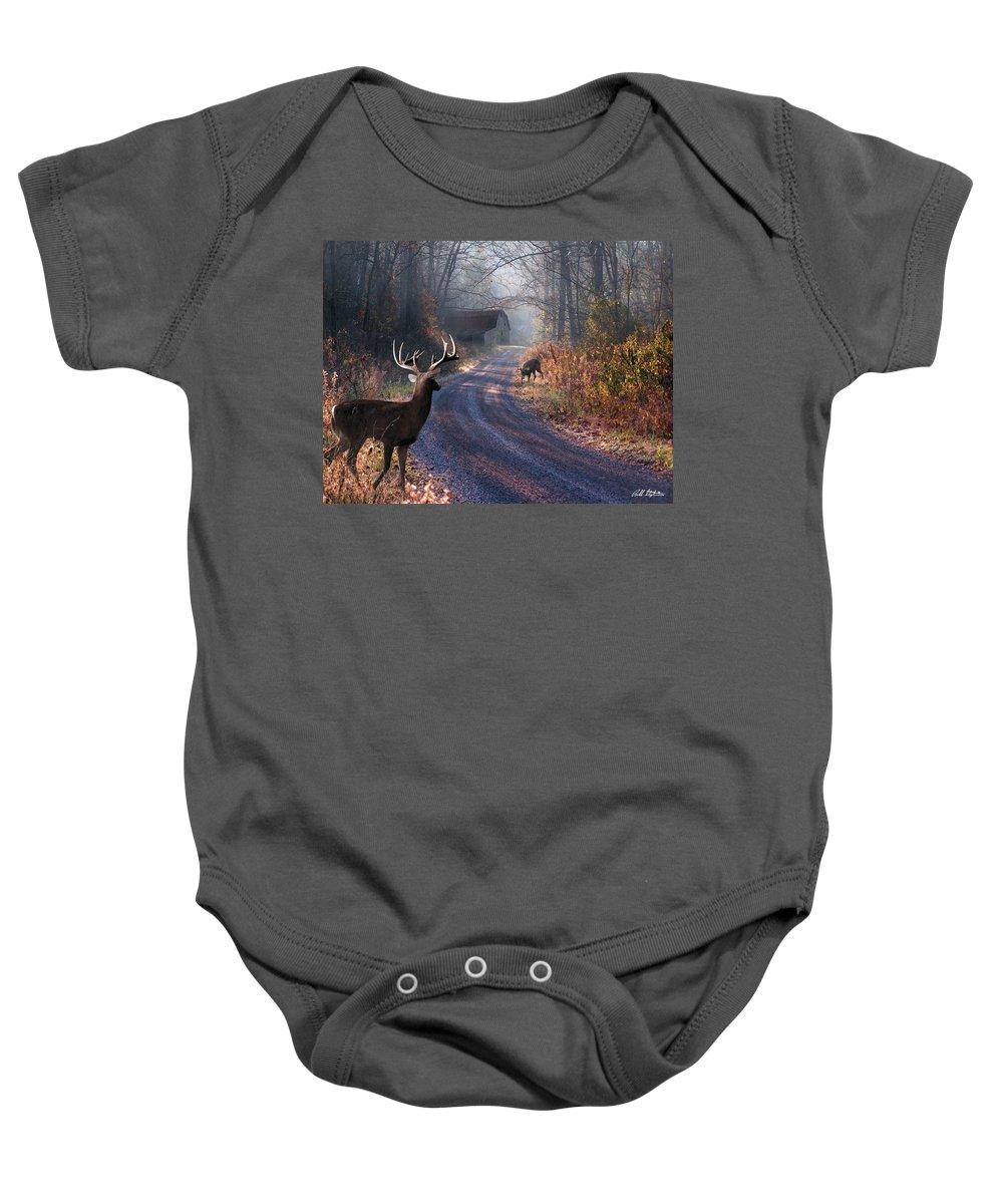 Deer Baby Onesie featuring the digital art Back Home by Bill Stephens