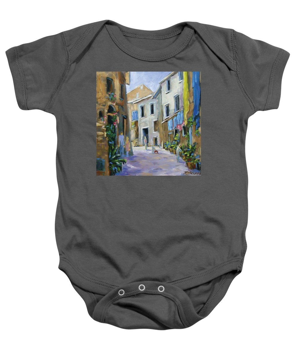 Urban Baby Onesie featuring the painting Back Street by Richard T Pranke
