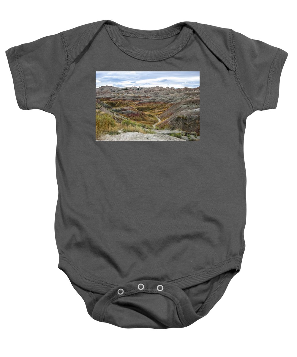 Badlands Baby Onesie featuring the photograph Badlands 10 by Ingrid Smith-Johnsen