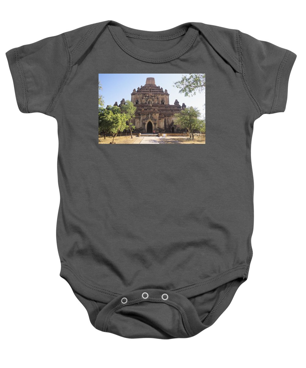 Ancient Baby Onesie featuring the photograph Bagan Sulamani Temple by William Waterfall - Printscapes