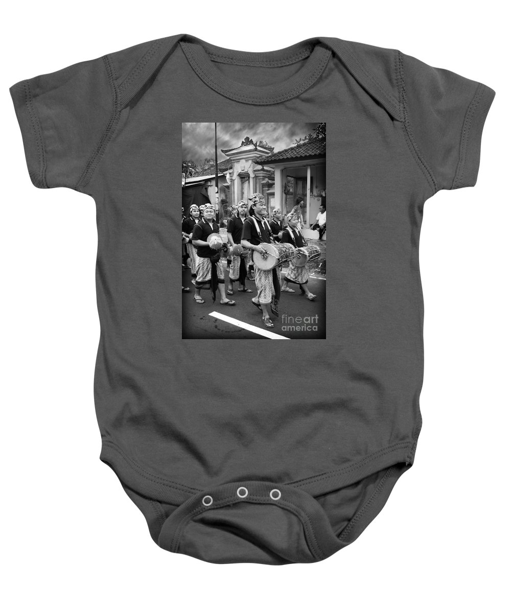 Balinese People Baby Onesie featuring the photograph Balinese People by Charuhas Images