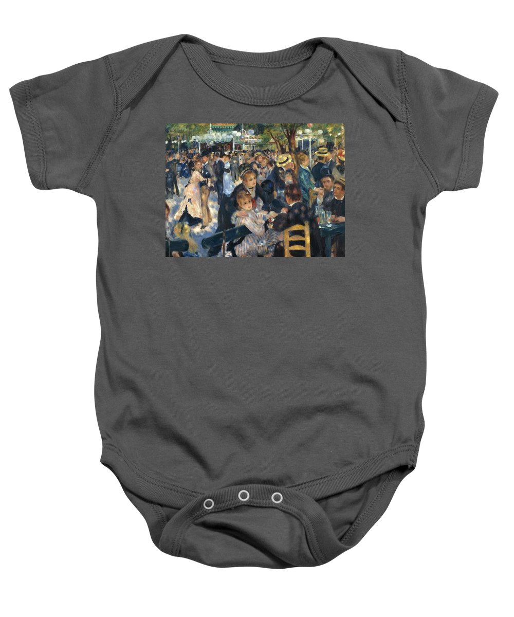 Ball Baby Onesie featuring the painting Ball At The Moulin De La Galette 1876 by Renoir PierreAuguste