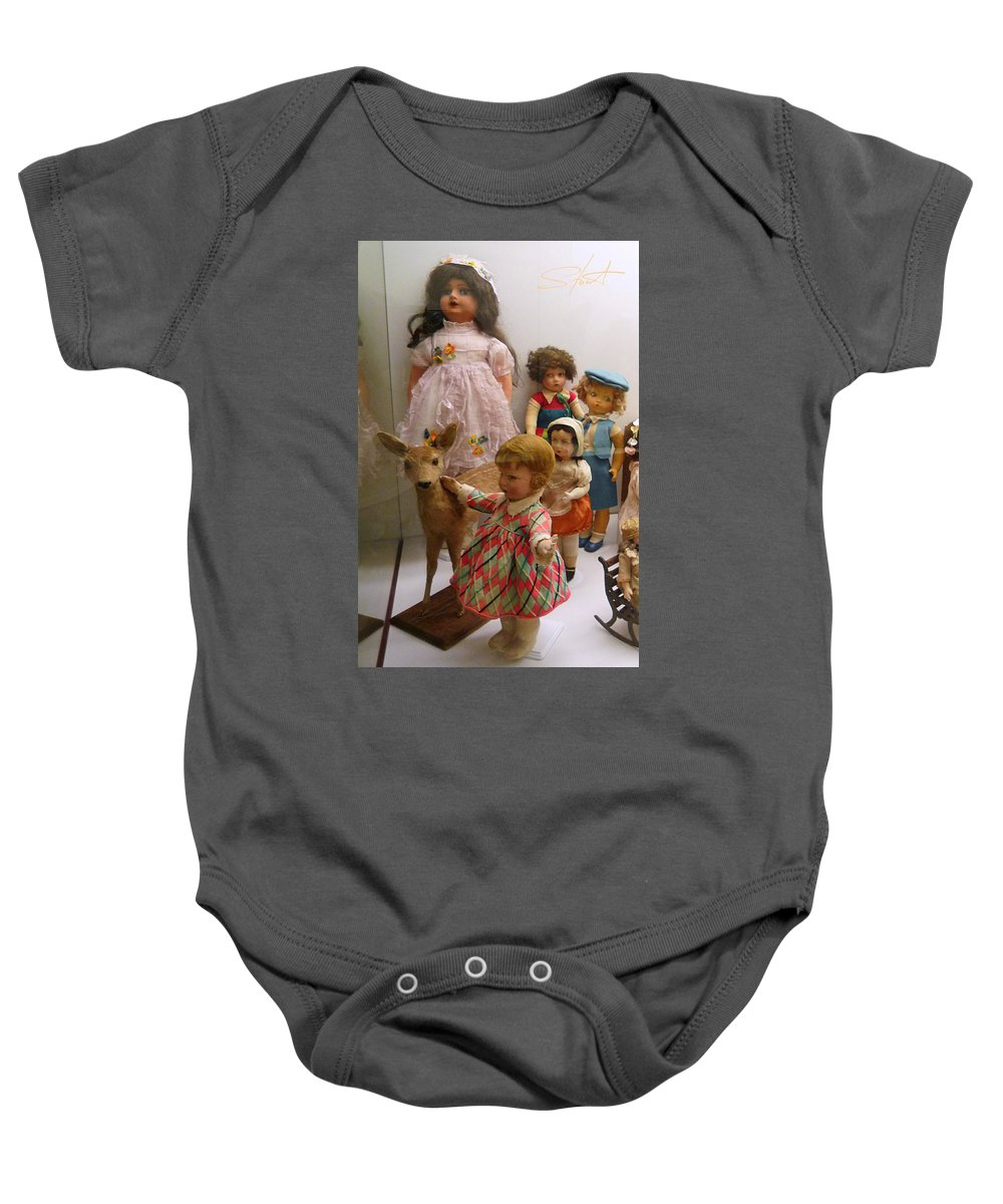 Deer Baby Onesie featuring the photograph Bambi And Baby by Charles Stuart