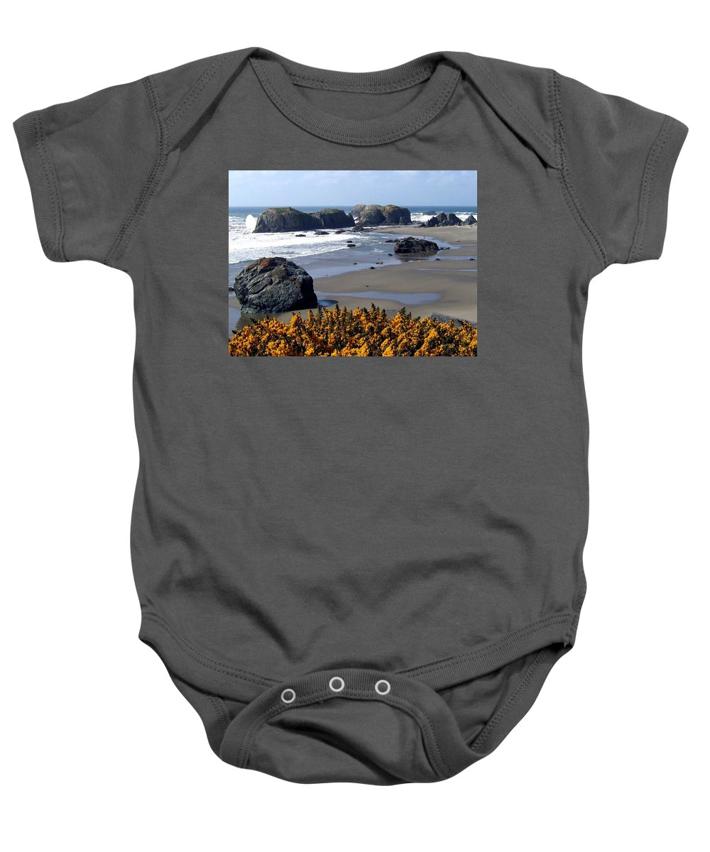 Bandon Baby Onesie featuring the photograph Bandon 23 by Will Borden