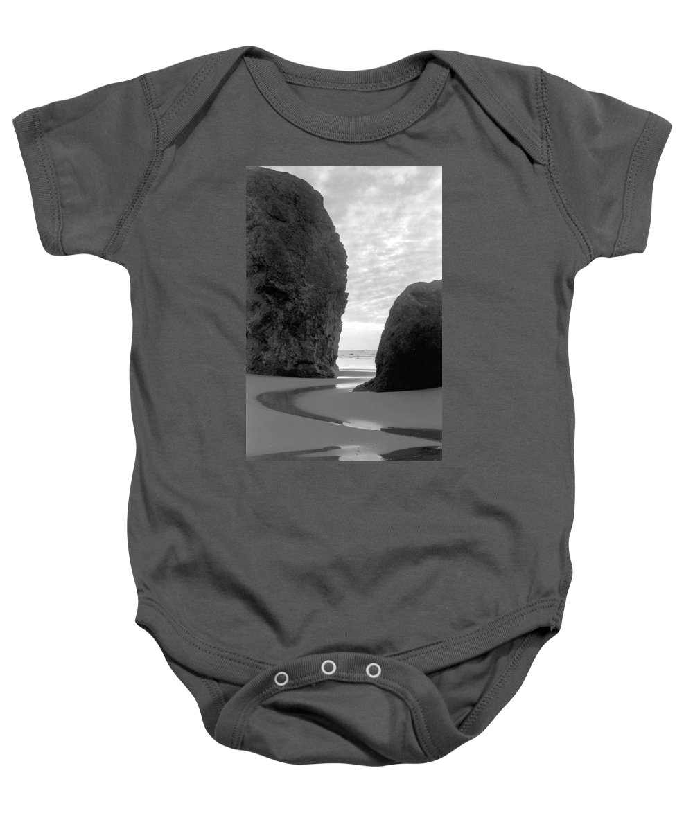 Bandon Baby Onesie featuring the photograph Bandon by Trish Hale