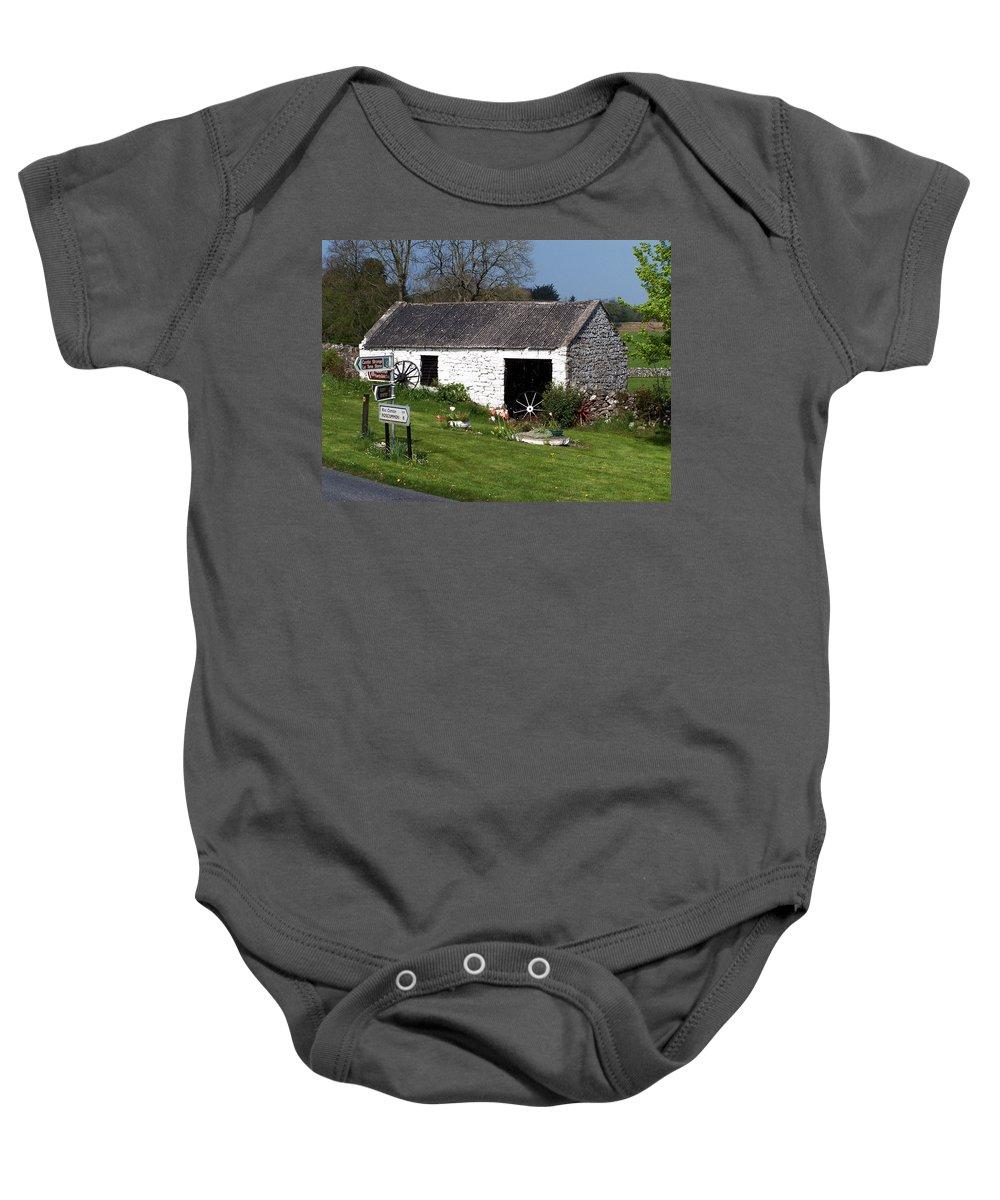 Ireland Baby Onesie featuring the photograph Barn At Fuerty Church Roscommon Ireland by Teresa Mucha