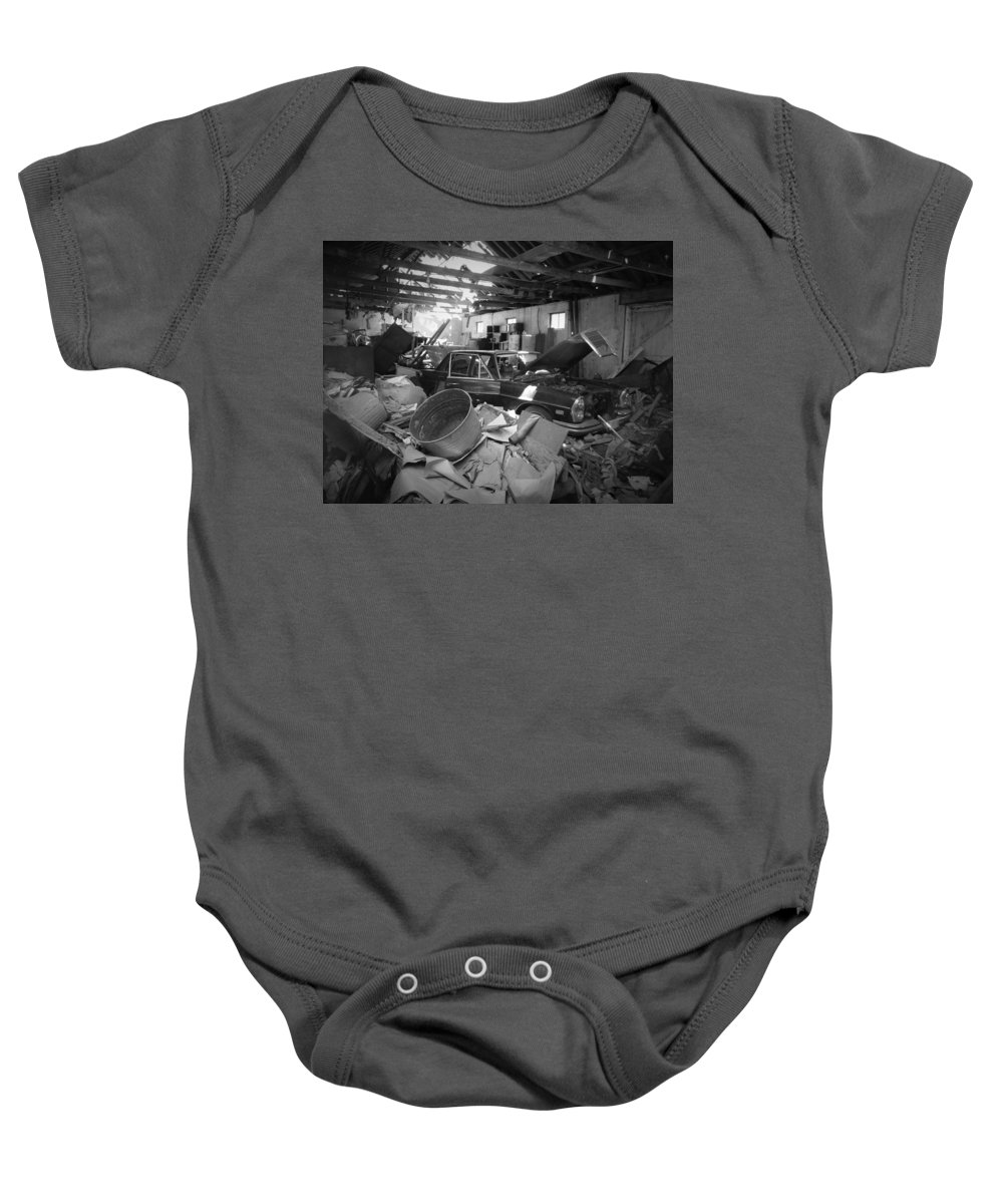 Mercedes Baby Onesie featuring the photograph Barn Find by Laurent Arseneau