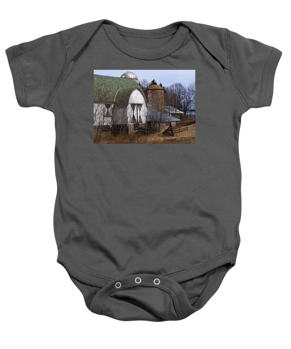 Barn Baby Onesie featuring the photograph Barn On 29 by Tim Nyberg