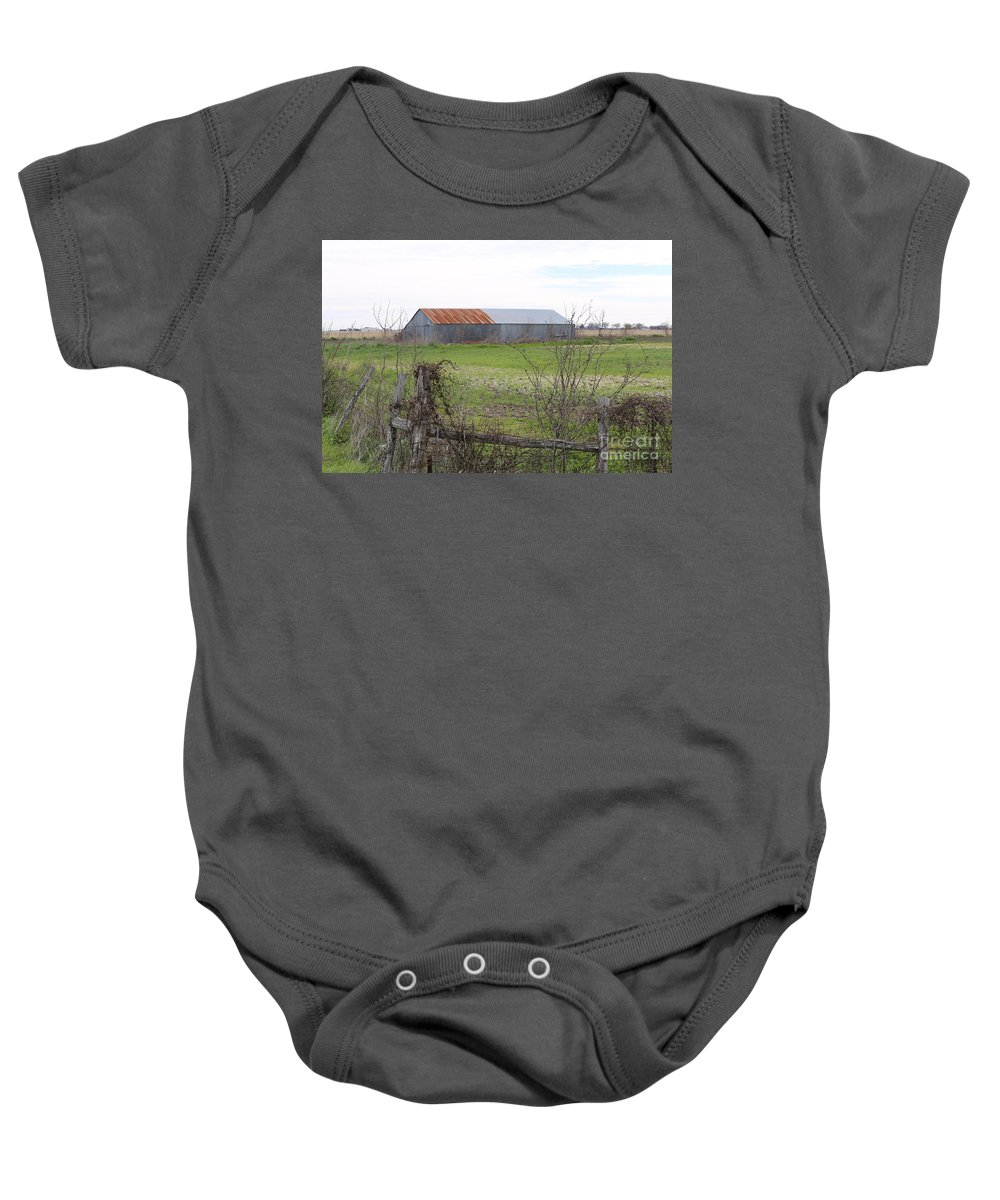 Landscape Baby Onesie featuring the photograph Barn4 by Jeff Downs