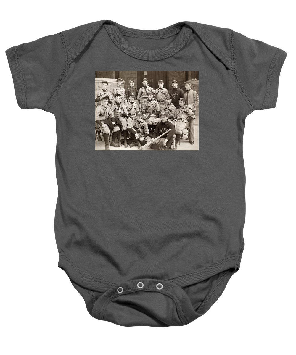 1896 Baby Onesie featuring the photograph Baseball: West Point, 1896 by Granger