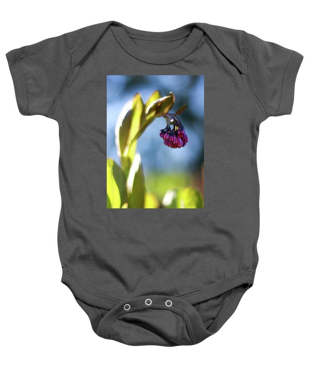 Botanical Baby Onesie featuring the photograph Basking Beauty by Martina Schneeberg-Chrisien
