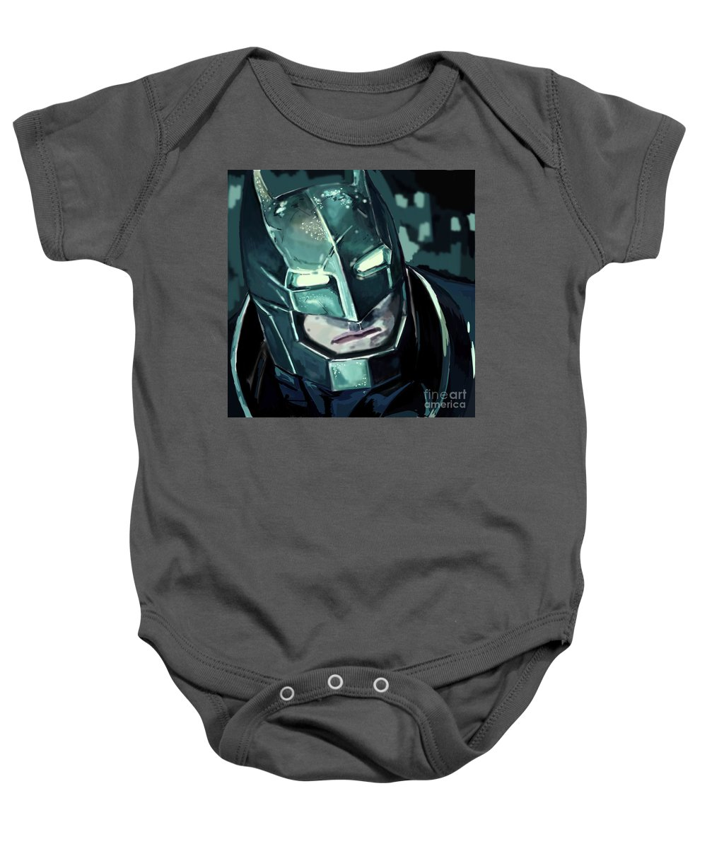 Baby Onesie featuring the digital art Batman by Vitaly Yankin