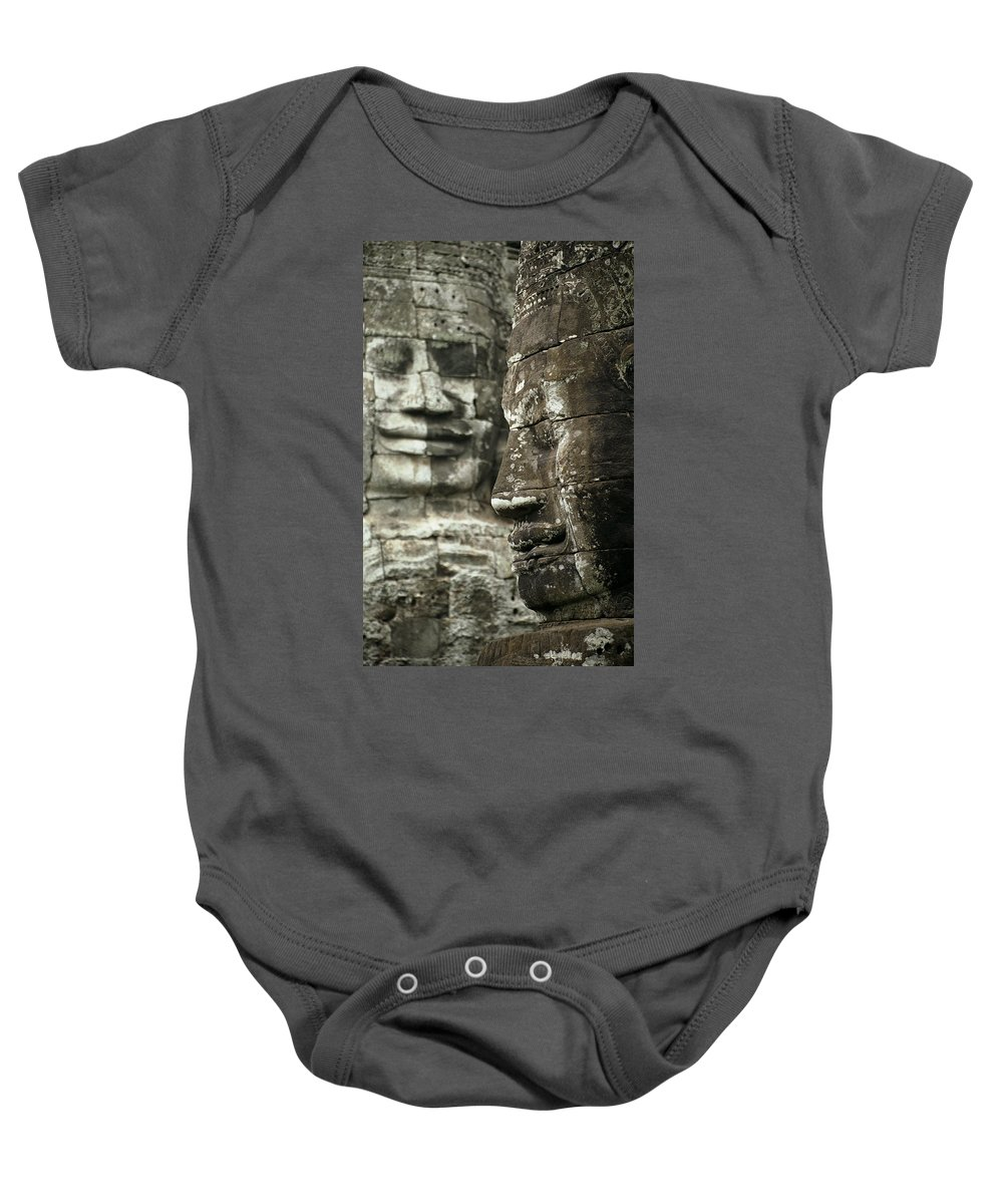 Bayon Baby Onesie featuring the photograph Bayonii by Patrick Klauss